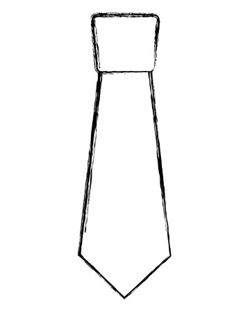 clothing necktie element accessory fashion design vector illustration sketch image