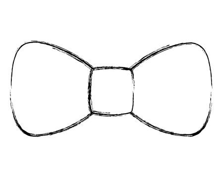 hipster  fashion bow tie elegance for men vector illustration sketch image