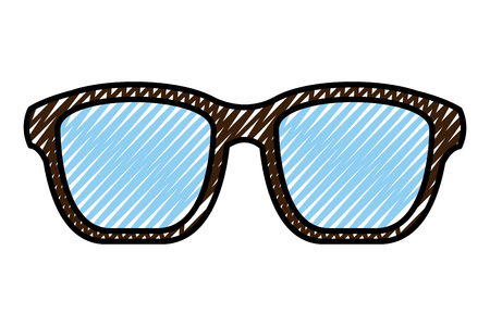 hipster glasses fashion trendy aceessory vector illustration drawing color image