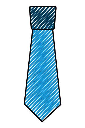 clothing necktie element accessory fashion design vector illustration drawing color image Foto de archivo - 96947116