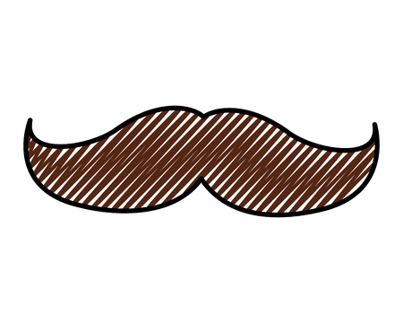 mustache vintage trend hipster style vector illustration drawing color image