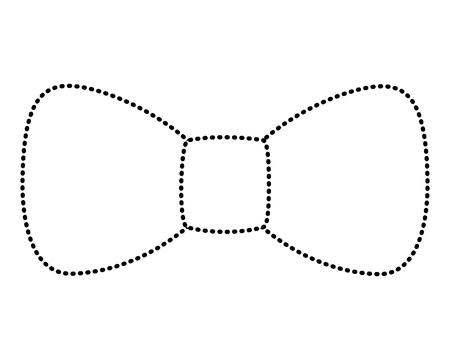 hipster fashion bow tie elegance for men vector illustration dotted line image