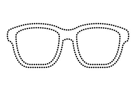 ヒップスターメガネファッショントレンディなアセソリーベクトルイラスト点線画像  イラスト・ベクター素材