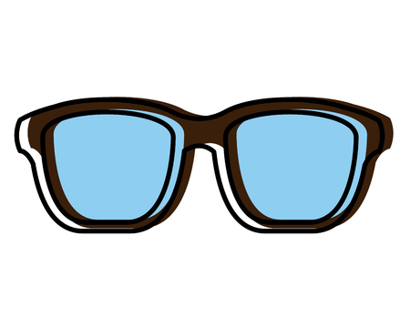 hipster glasses fashion trendy aceessory vector illustration