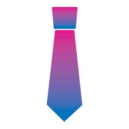 clothing necktie element accessory fashion design vector illustration degrade color image