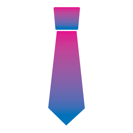 clothing necktie element accessory fashion design vector illustration degrade color image
