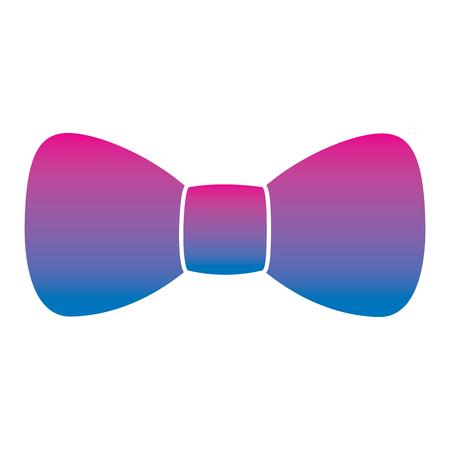 hipster fashion bow tie elegance for men vector illustration degrade color image