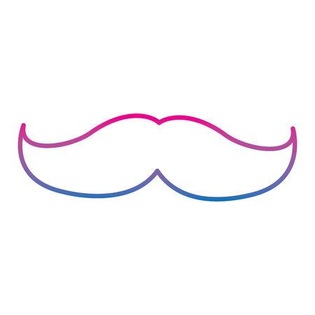 Mustache vector illustration