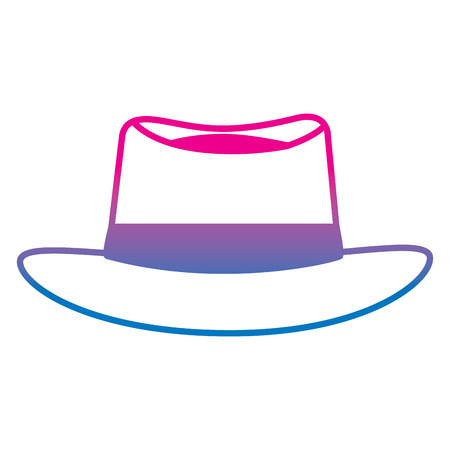 Classic hat vector illustration