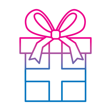 Wrapped gift box vector illustration