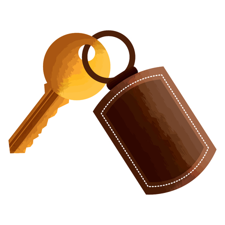 key with keychain access door vector illustration vector illustration