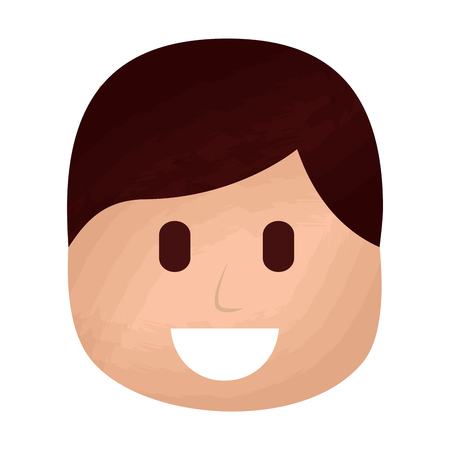 character man face laughing expression vector illustration Illustration