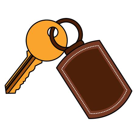 A key with key chain access door vector illustration vector illustration