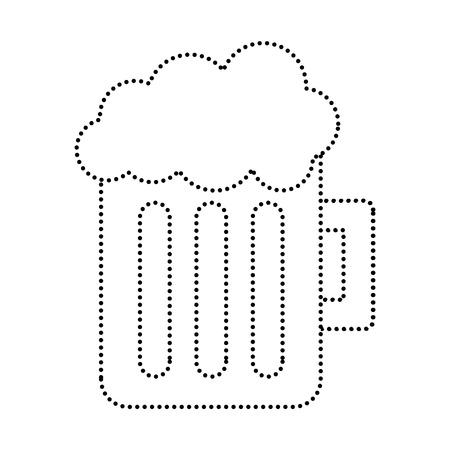 Glass beer mug image illustration