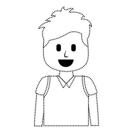 cartoon smiling man image illustration Illusztráció