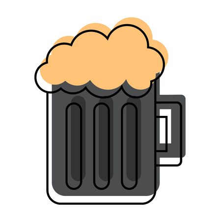Glas bier mok schuimige drank alcohol vectorillustratie Stockfoto - 97006169