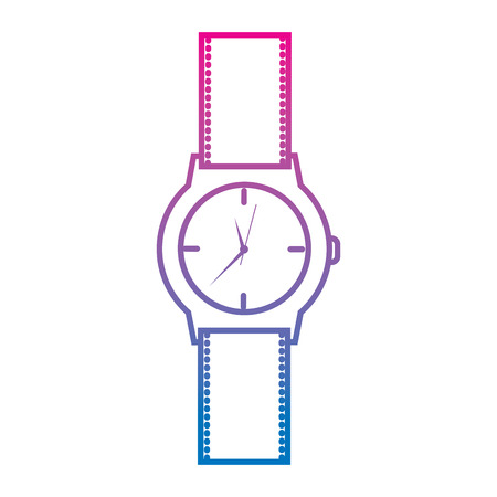 classic analog mens wrist watch time accessory vector illustration degraded color image