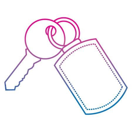key with keychain access door vector illustration vector illustration degraded color image