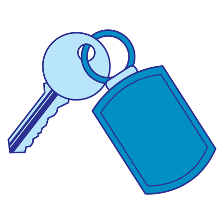 key with keychain access door vector illustration vector illustration blue image