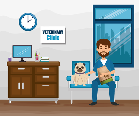 A veterinary doctor with mascot character vector illustration design Reklamní fotografie - 96993284