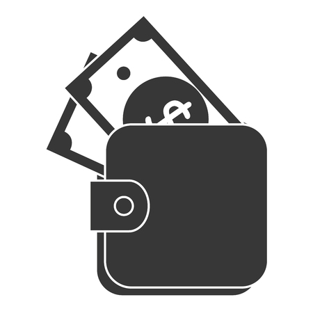 A wallet money isolated icon vector illustration design Illusztráció