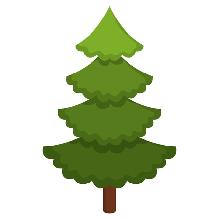 A Christmas pine tree decoration vector illustration design Stock Illustratie