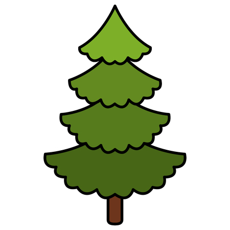 A christmas pine tree decoration vector illustration design