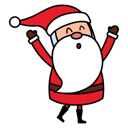 cute santa claus comic character vector illustration design