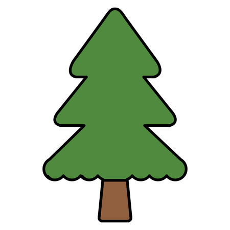 A christmas pine tree vector illustration design