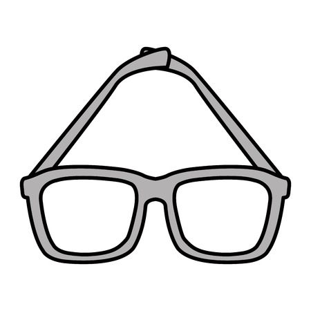 Eye glasses isolated icon vector illustration design Illustration