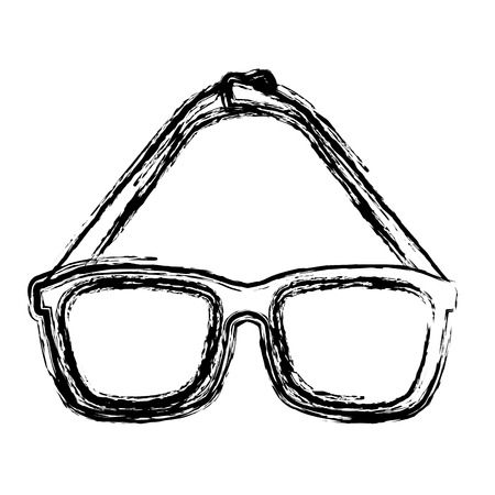 eye glasses isolated icon vector illustration design