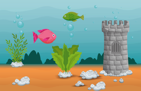 beautiful aquarium scene icon vector illustration design 版權商用圖片 - 96993271