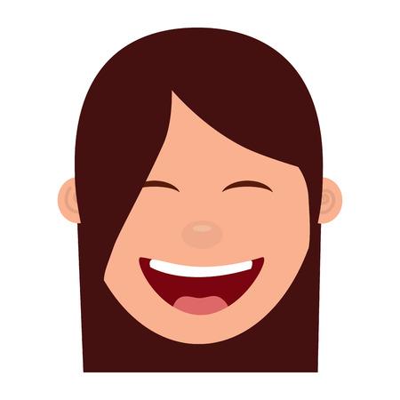Illustrazione vettoriale di carattere felice ridere ridere vettoriale Archivio Fotografico - 97002621