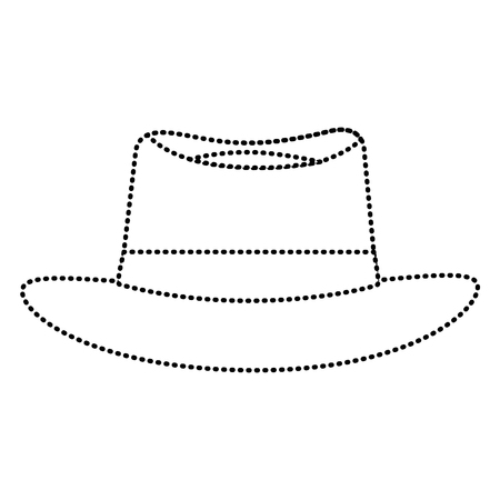 A classic hat men cloth fashion vector illustration dotted line image Illustration