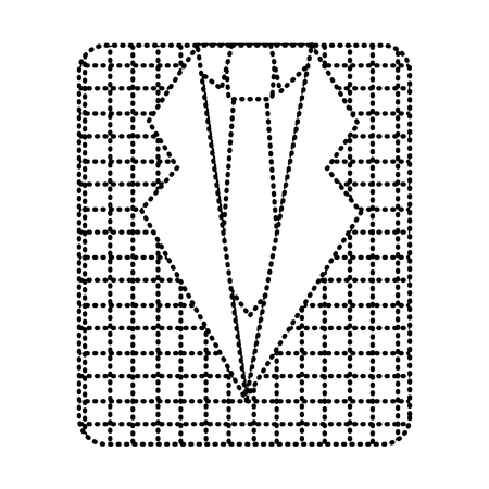 A retro checkered shirt and necktie fashion vector illustration dotted line image