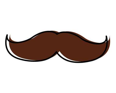 A mustache vintage trend hipster style vector illustration