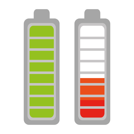 Battery levels power icon vector illustration design