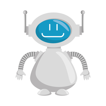technological robot character icon vector illustration design