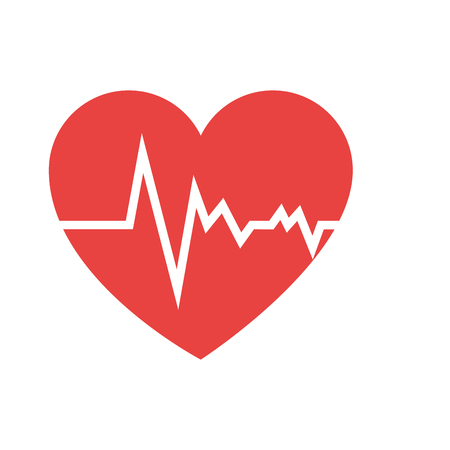 heart cardiology isolated icon vector illustration design
