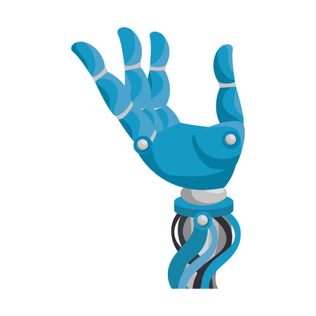 robot hand humanoid icon vector illustration design
