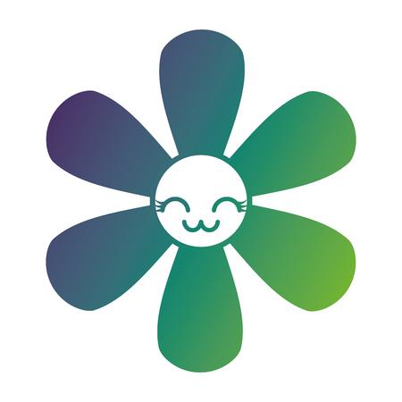 flower cartoon botanical icon vector illustration gradient color design Illustration