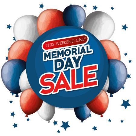 big sale commercial label for memorial day vector illustration design Stock Vector - 97021289