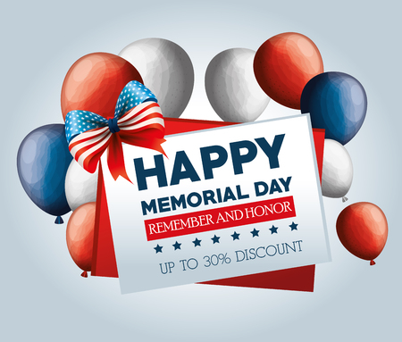 big sale commercial label for memorial day vector illustration design Illustration