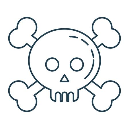 Skull with bones crossed vector illustration design Ilustração