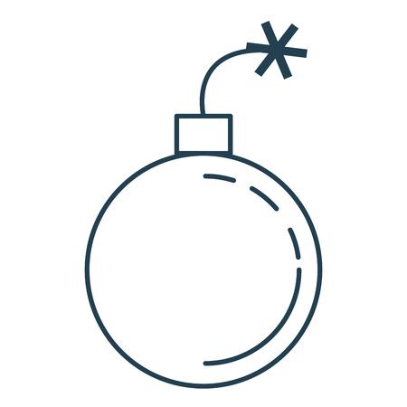 Vector de illustratieontwerp van het boom explosief geïsoleerd pictogram