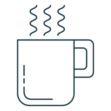 コーヒーカップ隔離アイコンベクトルイラストデザイン  イラスト・ベクター素材