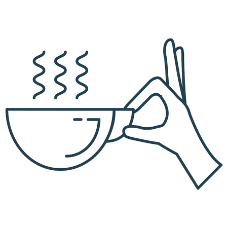 hand with coffee cup isolated icon vector illustration design Ilustrace
