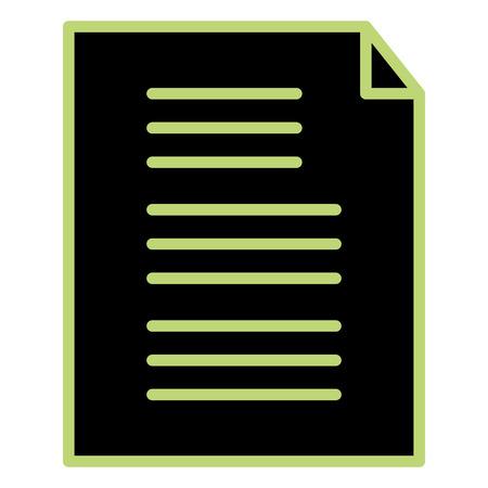 paper document isolated icon vector illustration design Illustration
