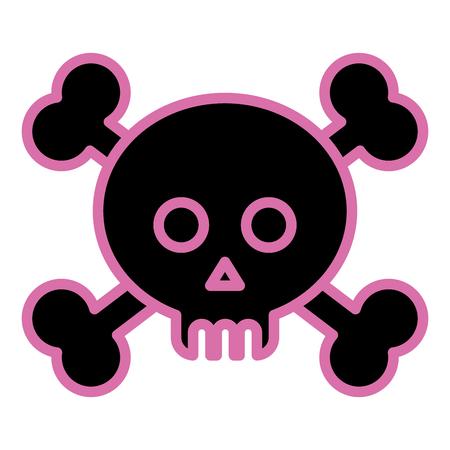 Skull outline image illustration Reklamní fotografie - 97043108