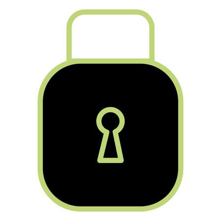 Safe secure padlock illustration